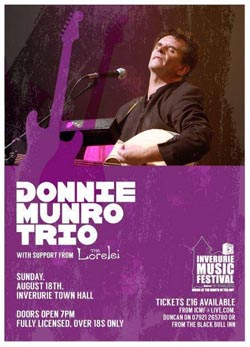 The Lorelei Donnie Munro gig poster